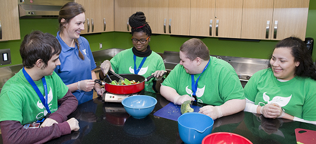 CORE students learn new cooking skills