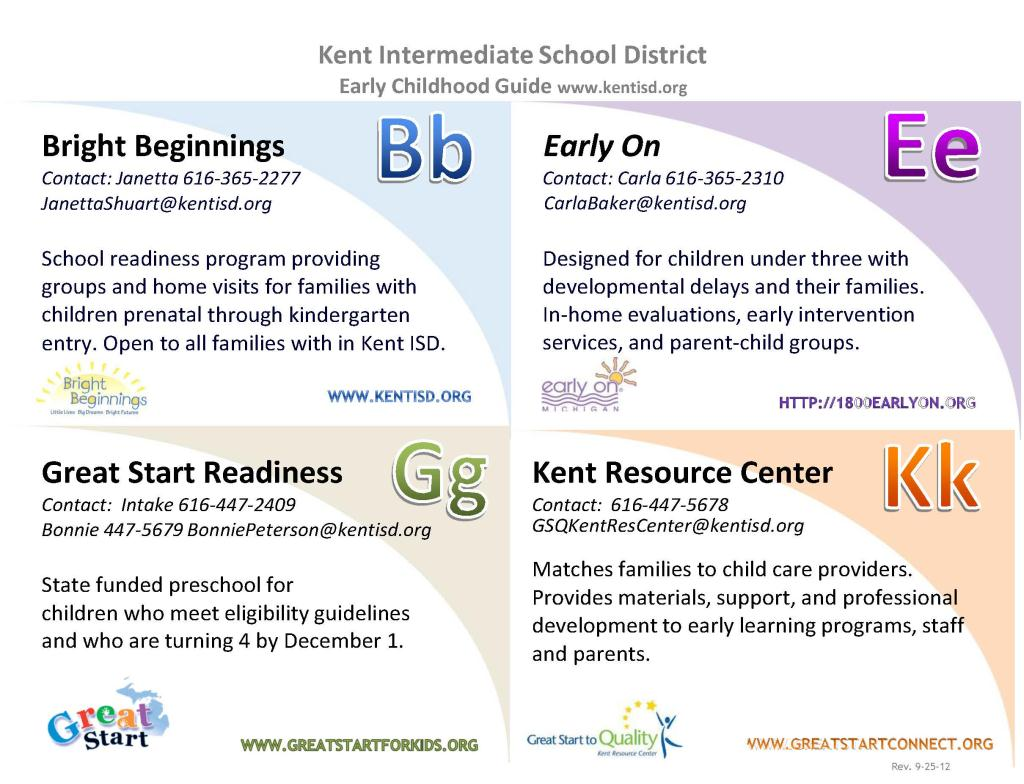 Kent ISD Early Childhood Programs