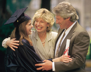 photo of parents with graduate
